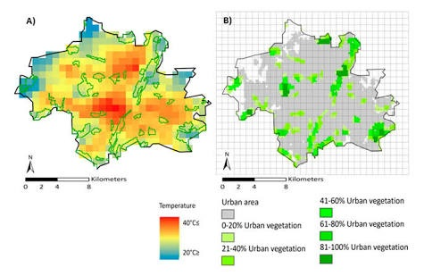 Impact of urban land cover change on land surface temperature